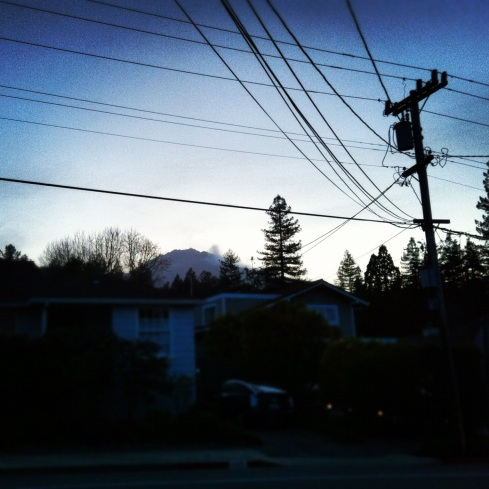 Mt. Tam and wires. 3/28/12